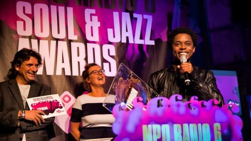 De NPO Radio 6 Soul & Jazz Awards zijn de radioprijzen voor de beste Nederlandse soul- en jazzartiesten. Op donderdag 2 oktober 2014 reikt NPO Radio 6 voor de derde keer de prijzen uit. Plaats van handeling is de Westerunie in Amsterdam en naast de uitreikingen vinden er diverse optredens plaats. Foto: Raymond van Olphen/HH